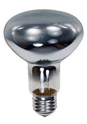 60R80/E27, Лампа  60Вт, зеркальная, цоколь E27, R=80mm