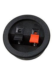 1-715, прищепка аудио двойная кругл. 55мм пластик на корп. вклеиваемая