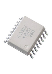 ACPL-332J-500E, оптопара IGBT драйвера 2,5А 890В SO-16