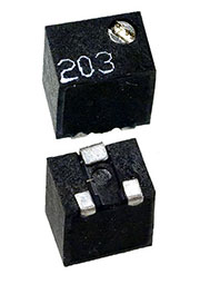 WIBC1801(3224)W-503, 3224W-503LF, 50 кОм 11 обор. потенциометр