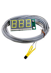 STH0014UW, встр.цифр.,термометр,с датч.,ульт.-яркий бел.инд.,-55°C+125°