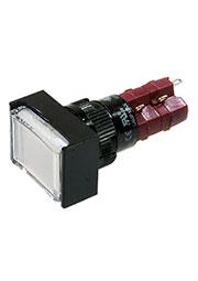 D16LMT2-2ABKW, Переключатель кнопочный без фиксации 250В/5А LED подсветка