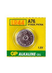 A76  LR44, батарейка GP A76, диск MnZn ( LR44 ), 1 шт.