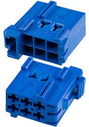 1-965640-1, Timer Connectors, 6 конт, шаг-5мм, синий