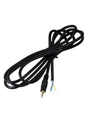 1-022G, штекер аудио-видео 2.5мм  4 конт.пластик  с кабелем 1.5м  позолоченный
