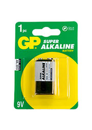 GP 1604A 6LF22, батарейка GP 1604A, alkaline, ( 6LF22, КРОНА ), 1 шт.
