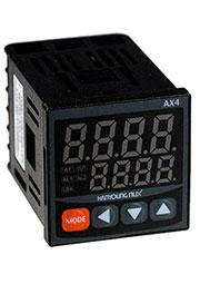 AX4-4A, термоконтроллер 48x48мм вхPt100,K,J,R,T 230В вых 2реле+4-20мА