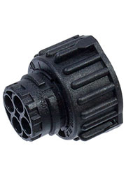 1-967325-3, 2.5mm, корпус розетки 2 конт. для вилки 1-967402-3 черный