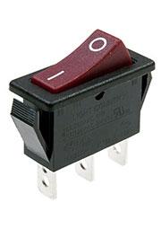 R425-BRBT-G, переключатель клавишный ON-ON 250В 16A красный