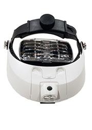 MG81001-H, лупа-очки с LED подсветкой 2 светод. 1.0/1.5/ 2.0/2.5/3.0/3.5