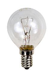 25D1/CL/E14, Лампа  25Вт, сферическая прозрачная, цоколь E14