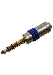 1-131G, штекер аудио 6.35мм стерео металл  на кабель  позолоченный