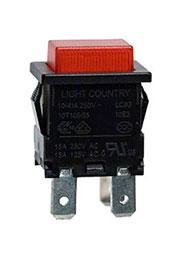 LC-8304BROT2-G, кнопка красн.без фикс. с подсв. 250В 10A (аналог EP-11)