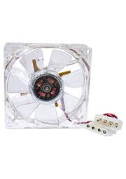 CLB-8025M12S-4LD2, вентилятор с подсветкой 80х80х25мм 12В голуб.