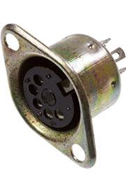 1-368, разъем DIN 5 pin  гн  металл на корпус