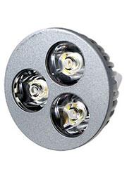 FEX106 MR16, 3x1W 12В лампа светодиодная, цвет теплый белый