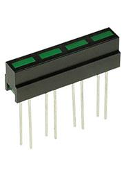 L-133CB/4GD, шкала 4 сегмент. зеленая 28х4.8мм