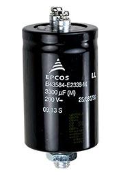 B43584E2338M000, конденсатор электролитический 3300мкФ 200В под винт