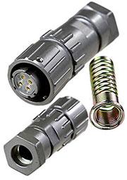 FQ14-4T-8, розетка на кабель герметичн. IP67 4 контакта 10А 500В
