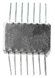 1НТ251 никель, Транзисторная сборка из 4-х NPN транзисторов [металл]