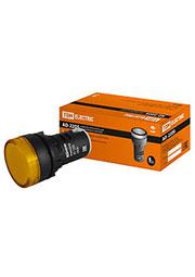 SQ0702-0003, AD-22DS(LED), лампа d22мм желтая 230В