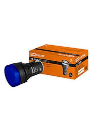 SQ0702-0005, AD-22DS (LED), лампа d22мм синяя 230В