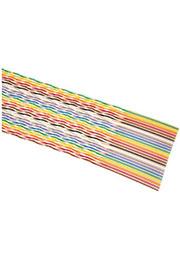 1700/10-100, плоский кабель цветной со скруч.жилами шаг 1.27мм 10 жил, бухта 30.5м