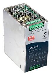 SDR-240-24, AC-DC, 240Вт, вход 88 264V AC, 47 63Гц /124 370В DC, выход 24В/10A, рег. вых 24...28В, и